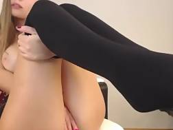 3 min - Sexual blonde masturbating chair