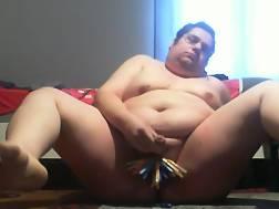 3 min - Fat masturbation web cam