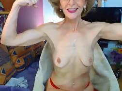 3 min - Hot granny flexes sexy