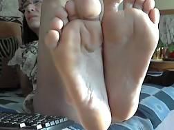 4 min - Grandma perfect feet face